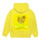 りん太のShocking face Animal arts 「Yellow Bear」 Hoodiesの裏面