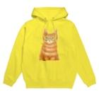 Washiemon and Ai-chan's Shopのオレンジ猫 Hoodies