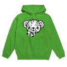 Cɐkeccooのクマのブラウン-シンプル(うさぎのラビのお友達) Hoodies