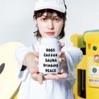 MasaruのDOGS Coffee SAUNA Drinking PEACE Kooziesのサイズイメージ