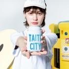 JIMOTO Wear Local Japanの台東区 TAITO CITY ロゴブルー Kooziesのサイズイメージ