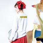 明季 aki_ishibashiの立ち入り禁止 Long sleeve T-shirtsの着用イメージ(裏面・袖部分)