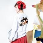 flounder2のウマ Long sleeve T-shirts