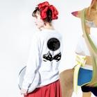 leaf【MOON】のdarkmoon Long sleeve T-shirtsの着用イメージ(裏面・袖部分)