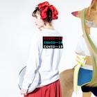 G-HERRING(鰊;鮭;公魚;Tenkara;SALMON)のCOVIDー19  Long sleeve T-shirtsの着用イメージ(裏面・袖部分)