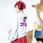 ようかのsmokesmoke Long sleeve T-shirtsの着用イメージ(裏面・袖部分)
