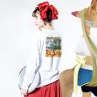 MILKMANIA STOREのYAMAMORI POTATO Long sleeve T-shirtsの着用イメージ(裏面・袖部分)