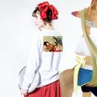 theoryセオリーの女の裏はセックスT Long sleeve T-shirtsの着用イメージ(裏面・袖部分)
