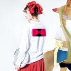 ゴメスのネオン3 バックプリント Long sleeve T-shirtsの着用イメージ(裏面・袖部分)