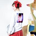 mayuri.M+aのmayuri.M+a\mayuri推しT/ Long sleeve T-shirtsの着用イメージ(裏面・袖部分)