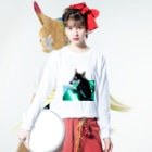 Husky'S Herb Gardenの船乗りハスキー Long Sleeve T-Shirtの着用イメージ(表面)