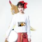 k.m.p.雑貨・SUZURI支店の気絶する。 Long sleeve T-shirtsの着用イメージ(表面)