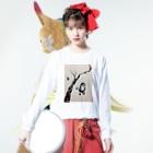 江藤ユーロ⭐️方喰朱音の花の代わりに蝶が舞う Long sleeve T-shirtsの着用イメージ(表面)