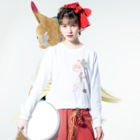 ジャパニーズスタンダードの枝垂れ桜 Long sleeve T-shirtsの着用イメージ(表面)