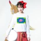 コ八ルのレトロチャイナ Long sleeve T-shirtsの着用イメージ(表面)