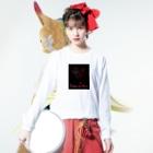 くろギャル:dongxugegeのくろギャル 蜘蛛とクレオメの花 ロンT 黒 Long sleeve T-shirtsの着用イメージ(表面)