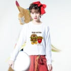 Creepy Treasures!のBurger and Chips Long sleeve T-shirtsの着用イメージ(表面)