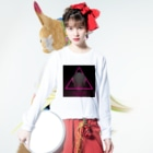 hiina_IQ2のAlone in the cage. Long sleeve T-shirtsの着用イメージ(表面)
