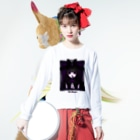 MEAの遺影 Long sleeve T-shirtsの着用イメージ(表面)