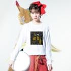 鳥ストア 別館の獣運びTシャツ Long sleeve T-shirtsの着用イメージ(表面)