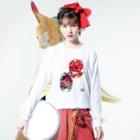 【天狗ch.】OFFICIAL GOODS STOREの天狗妖術ロンT(白文字) Long sleeve T-shirtsの着用イメージ(表面)