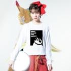 """""""すずめのおみせ"""" SUZURI店のSmile makes you happy Long sleeve T-shirtsの着用イメージ(表面)"""