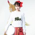 トチオンガーセブン商店の蛇王一族 Long sleeve T-shirtsの着用イメージ(表面)