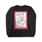 LUNARHOLIC STOREの偽諺~壱~「ラヴイズグラインド」(赤縁) Long sleeve T-shirts