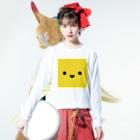 shimojuのきいろいやつ Long sleeve T-shirtsの着用イメージ(表面)