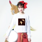 yuinonn0824の花咲学園(駄犬さん) Long sleeve T-shirtsの着用イメージ(表面)