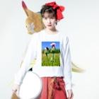 櫛屋籐士郎商店の目指すぜ!てっぺん Long sleeve T-shirtsの着用イメージ(表面)