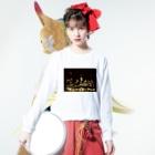 K×カットレットの工場moe!(火花) Long sleeve T-shirtsの着用イメージ(表面)