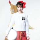 mota2の犬E=mc2 Long sleeve T-shirtsの着用イメージ(表面)