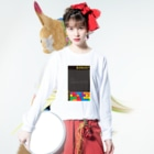 K. and His DesignのNUKE(=原子力)に対するアイロニー Long sleeve T-shirtsの着用イメージ(表面)