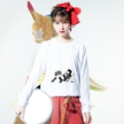 AkiAkaneの寝っころGIRL vol.4『小石倉かな子』 Long sleeve T-shirtsの着用イメージ(表面)