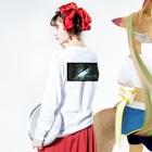 みずたま研究所のみずたまの日・弐 Long sleeve T-shirtsの着用イメージ(裏面・袖部分)