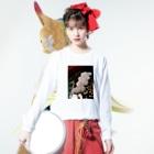 冥王演舞曲の贅沢遺産廃棄物 Long sleeve T-shirtsの着用イメージ(表面)