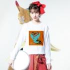 FINCH LIQUEUR RECORDSのピンホール Long sleeve T-shirtsの着用イメージ(表面)