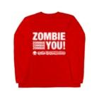 KohsukeのZombie You! (white print) Long sleeve T-shirts