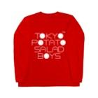 東京ポテトサラダボーイズ公式ショップの東京ポテトサラダボーイズ公式ネオクラシック(白)ロゴ Long sleeve T-shirts