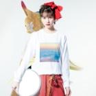 momo_emiのmomo_emi sky Long Sleeve T-Shirtの着用イメージ(表面)