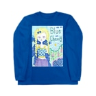 kaoru_littieのBlue cherry Long sleeve T-shirts