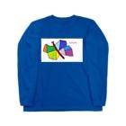 liveto100yearsのカラフルbutterfly Long sleeve T-shirts
