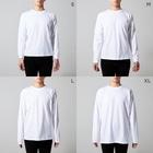 古書 天牛書店の「チャールズ、メアリー・ラムの詩、手紙、遺稿」<ブックデザイン> Long sleeve T-shirtsのサイズ別着用イメージ(男性)