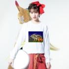 雪猫@LINEスタンプ発売中のウリ坊 ハロウィン Long sleeve T-shirtsの着用イメージ(表面)