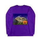 雪猫@LINEスタンプ発売中のウリ坊 ハロウィン Long sleeve T-shirts
