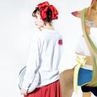 中村杏子の明治大正昭和平成令和 Long sleeve T-shirtsの着用イメージ(裏面・袖部分)
