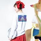 コ八ルのWIPE Long sleeve T-shirtsの着用イメージ(裏面・袖部分)