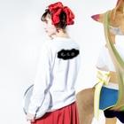 明季 aki_ishibashiのエコですみません Long sleeve T-shirtsの着用イメージ(裏面・袖部分)