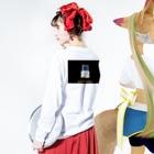 ゆいと君のロンT Long sleeve T-shirtsの着用イメージ(裏面・袖部分)